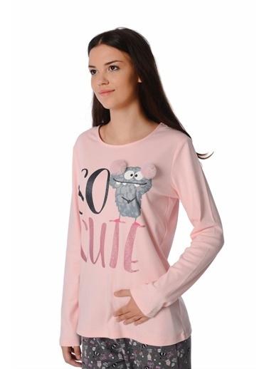 Roly Poly Rolypoly So Cute Kadın Pijama Takımı Açık Gri Somon